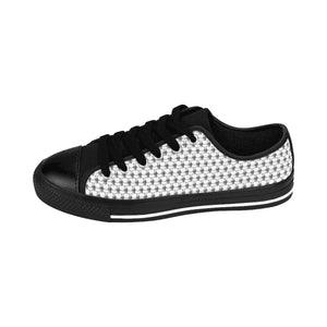 Skull and Crossbones Pattern Men's Low Top Sneakers - Valentino Unlimited