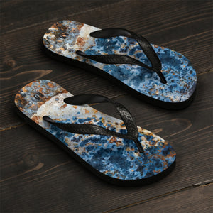 Cream Blue Rust Unisex Flip-Flops