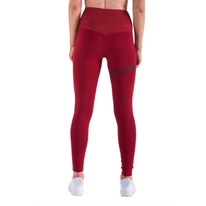 High-waisted Solid Colored Leggings with Stripe Accent
