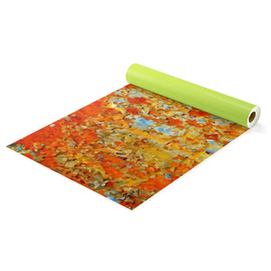 Light Blue Rust Yoga Mat - Valentino Unlimited