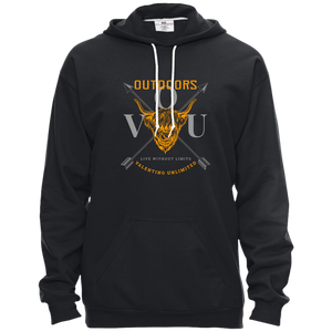 VUO Bull and Crossed Arrows Pullover Hooded Fleece - Valentino Unlimited