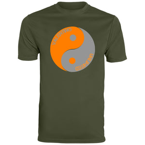 Orange and Grey valentino unlimited Yin Yang Men's Wicking T-Shirt