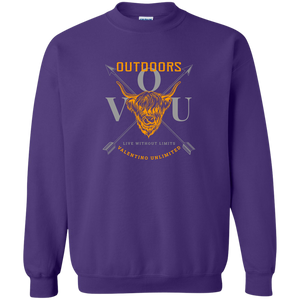 VUO Bull and Crossed Arrows Crewneck Pullover Sweatshirt  8 oz. - Valentino Unlimited