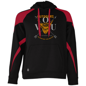 VUO Bull and Crossed Arrows Colorblock Hoodie - Valentino Unlimited