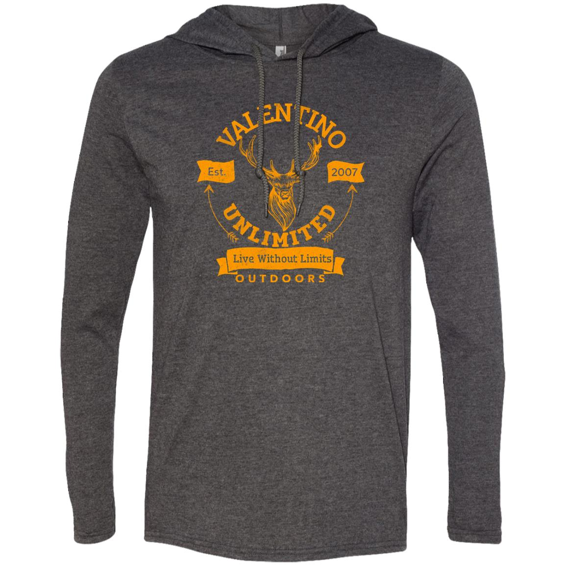 VALENTINO UNLIMITED OUTDOORS Deer Head LS T-Shirt Hoodie - Valentino Unlimited