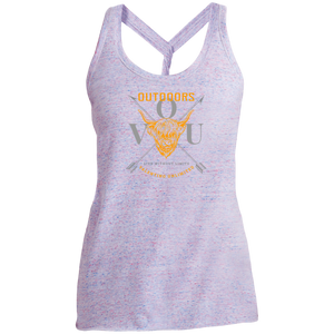 VUO Bull and Crossed Arrows Ladies Cosmic Twist Back Tank - Valentino Unlimited