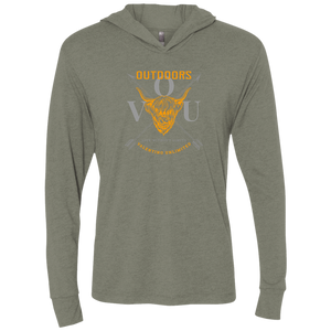VUO Bull and Crossed Arrows Unisex Triblend LS Hooded T-Shirt - Valentino Unlimited