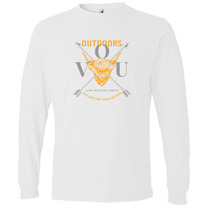 VUO Bull and Crossed Arrows Lightweight LS T-Shirt - Valentino Unlimited