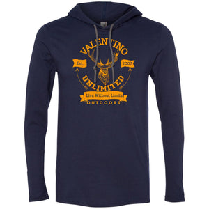 VALENTINO UNLIMITED OUTDOORS Deer Head LS T-Shirt Hoodie
