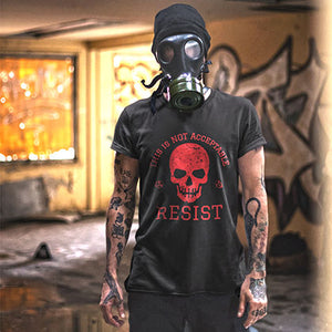 This is NOT Acceptable Resist Skull Short-Sleeve Unisex T-Shirt - Valentino Unlimited