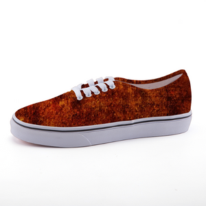 Dark Rust Low-top fashion canvas shoes