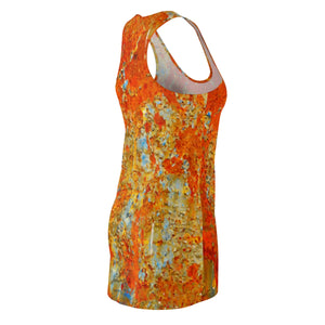 Light Blue Rust Women's Racerback Dress