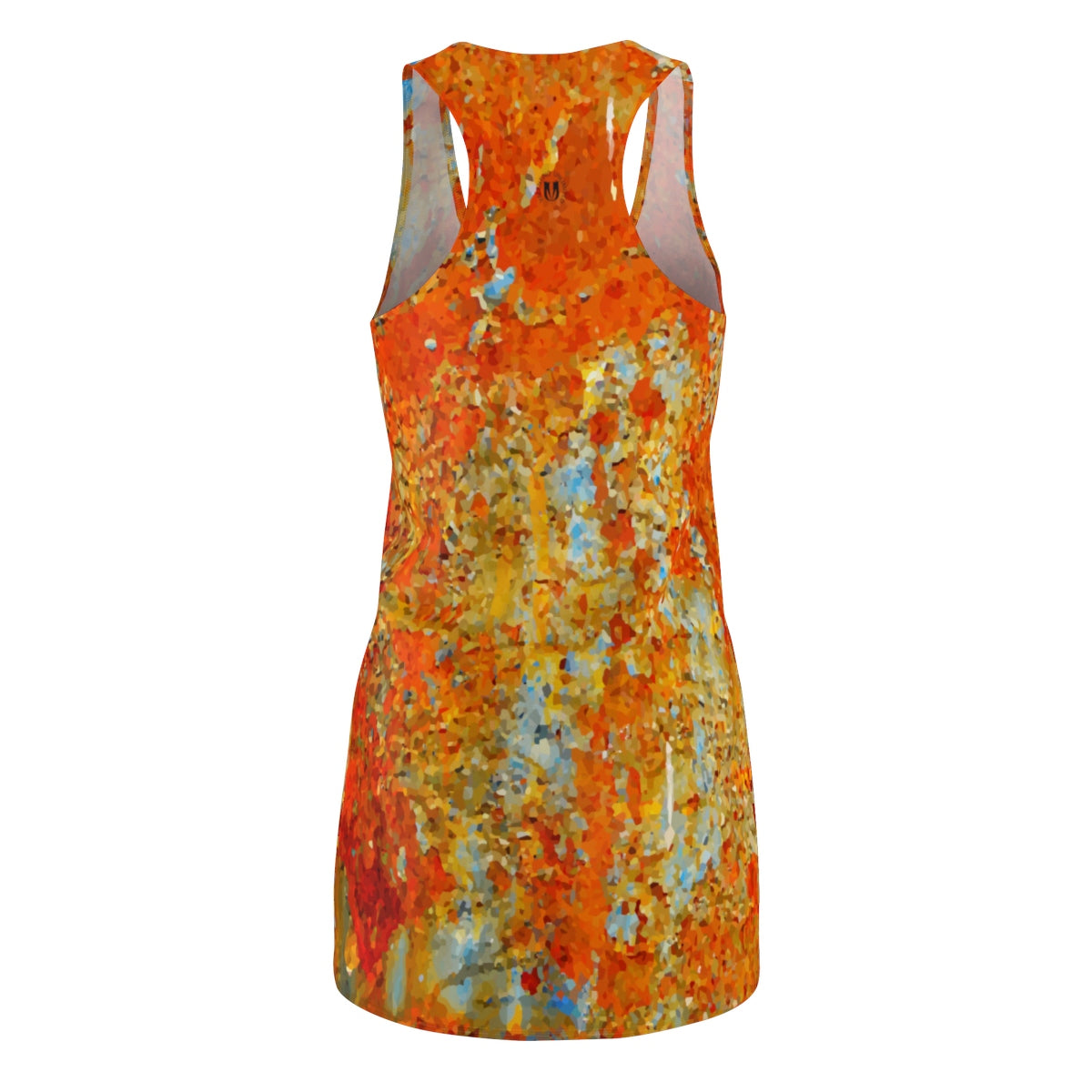 Light Blue Rust Women's Racerback Dress - Valentino Unlimited