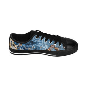 Cream Blue Rust Men's Low Top Sneakers