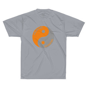 valentino unlimited Orange and Grey Yin Yang Performance T-Shirt