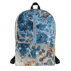 Cream Blue Rust Backpack