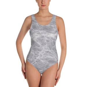 Grey Marble One-Piece Swimsuit - Valentino Unlimited