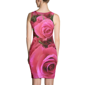 Roses Microfiber Dress - Valentino Unlimited