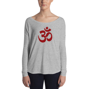 Om Symbol Ladies' Long Sleeve Tee - Valentino Unlimited