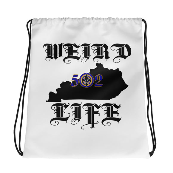 WEIRD LIFE 502 Drawstring bag