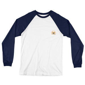 Skull and Crossbones Logo Long Sleeve Baseball T-Shirt - Valentino Unlimited