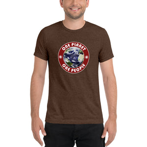 One Planet, One People SuperSoft Premium Tri-Blend Short Sleeve T-shirt - Valentino Unlimited