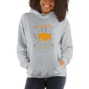 VUO Bison Over Crossed Arrows Hooded Sweatshirt - Valentino Unlimited