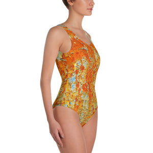 Light Blue Rust One-Piece Swimsuit - Valentino Unlimited