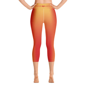 Red and Gold valentino unlimited Yoga Capri Leggings