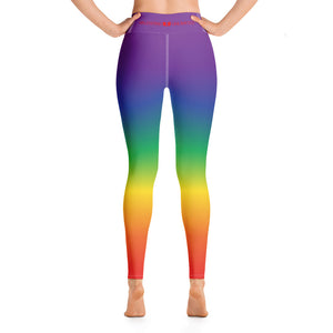 Rainbow Colored Yoga Leggings - Valentino Unlimited