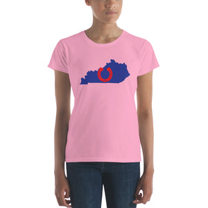 Lucky Horseshoe in Kentucky Women's Short Sleeve T-shirt - Valentino Unlimited