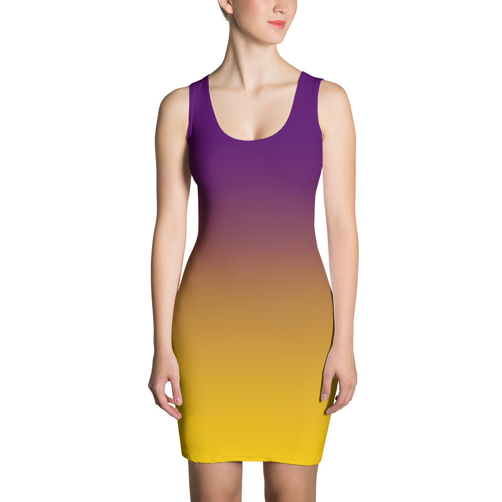 Purple to Yellow Fade - Sublimation Cut & Sew Dress