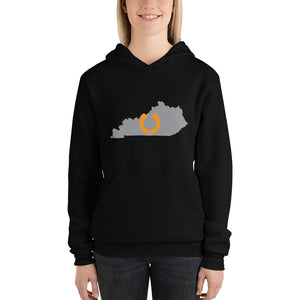 Lucky Kentucky Horseshoe Unisex hoodie - Valentino Unlimited
