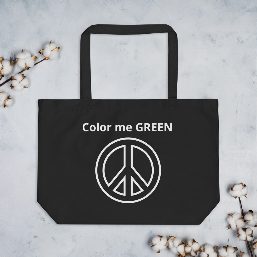 Color me GREEN Large organic tote bag