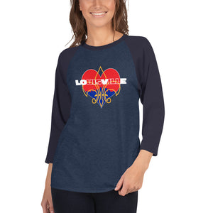 LOUISVILLE LOVE 3/4 Sleeve Raglan Shirt - Valentino Unlimited