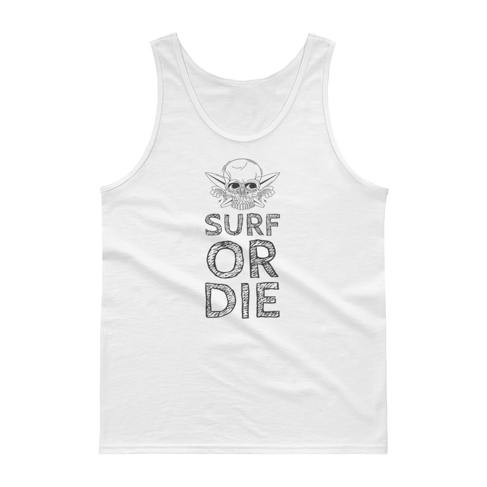 Surf or Die Skull Tank top - Valentino Unlimited