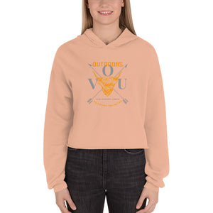 valentino unlimited Outdoors Bull and Crossed Arrows Crop Hoodie - Valentino Unlimited