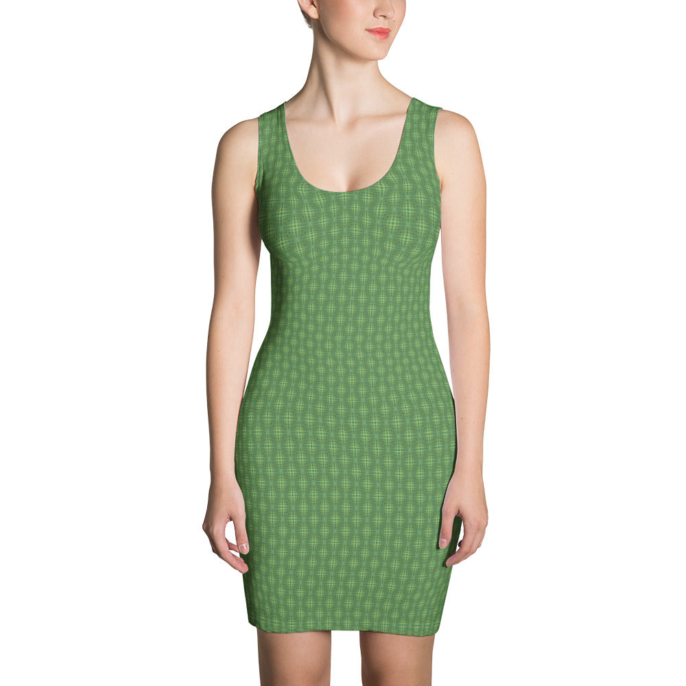 Green Weave - Sublimation Cut & Sew Dress