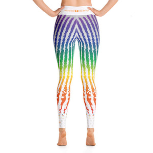 Ragged Rainbow Striped Yoga Leggings - Valentino Unlimited