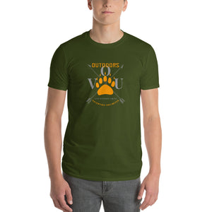 valentino unlimited Outdoors Bear Paw Print and Crossed Arrows Short-Sleeve T-Shirt - Valentino Unlimited