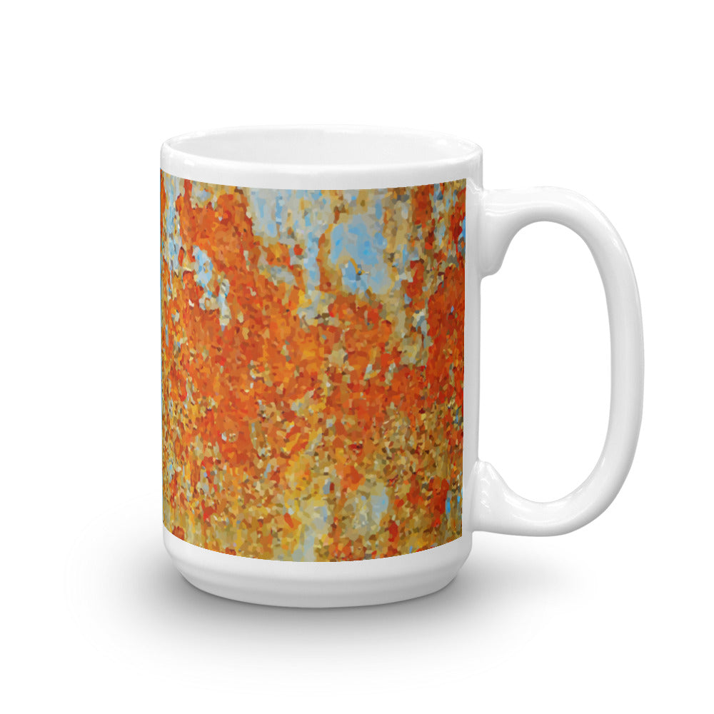 Light Blue Rust 15 oz. Mug - Valentino Unlimited