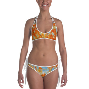 Light Blue Rust Bikini - Valentino Unlimited