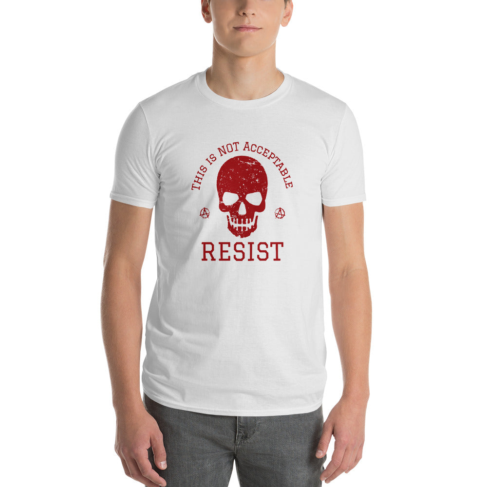 This is not acceptable RESIST Skull Short-Sleeve T-Shirt