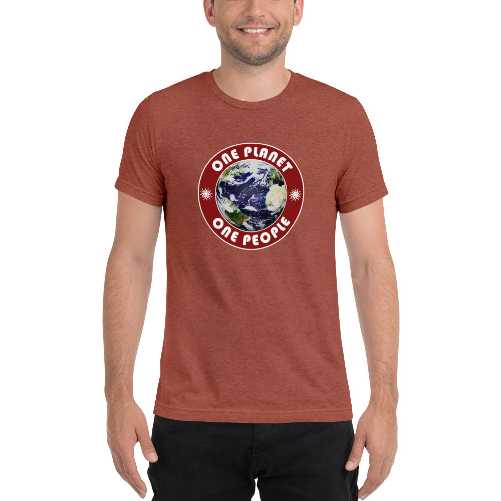 One Planet, One People SuperSoft Premium Tri-Blend Short Sleeve T-shirt