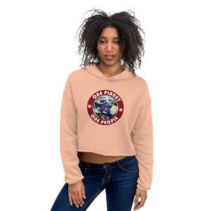 One Planet. One People. We're all in this together. Unity. Crop Hoodie - Valentino Unlimited