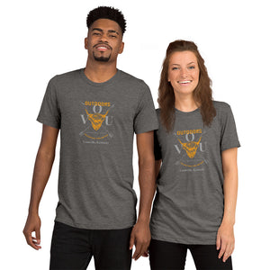 VUO Bull Over Crossed Arrows Louisville, Kentucky SuperSoft Premium Tri-blend Short sleeve t-shirt - Valentino Unlimited