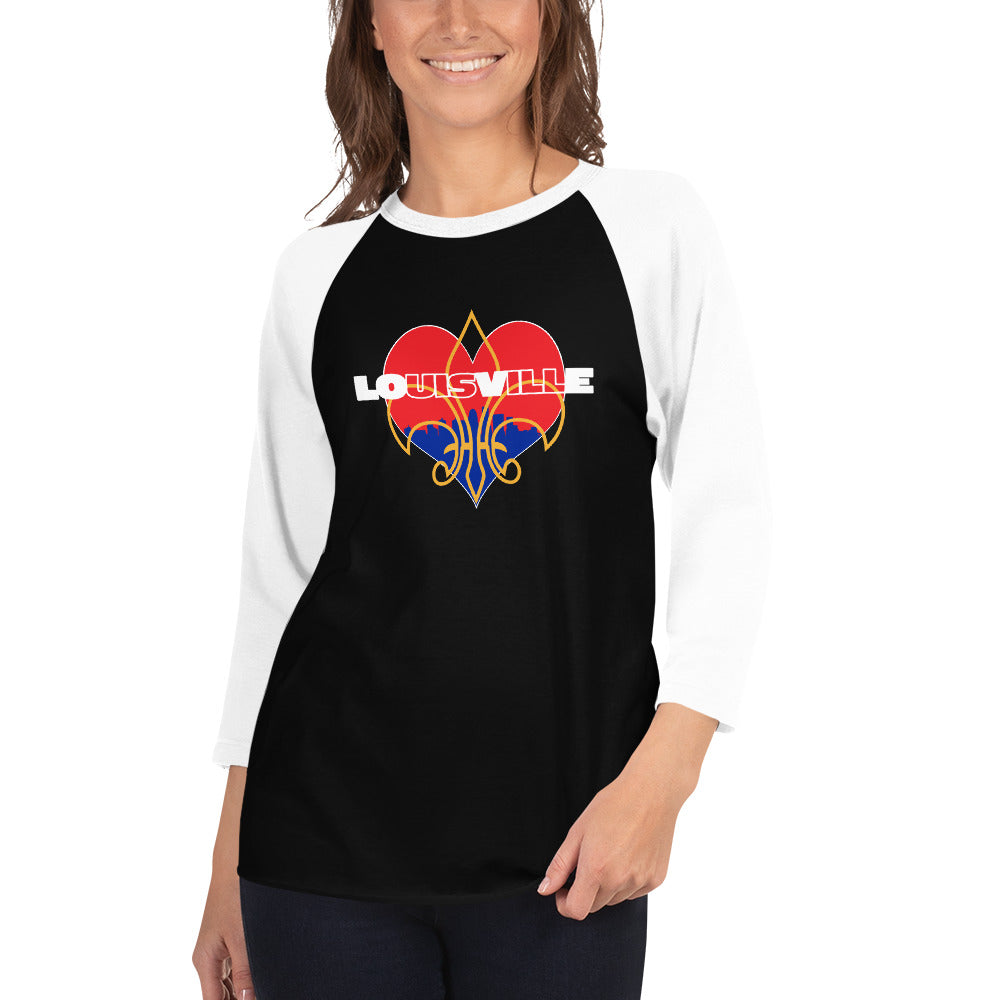 LOUISVILLE LOVE 3/4 Sleeve Raglan Shirt