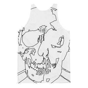 Wireframe Skull and Crossbones Unisex Classic Fit Tank Top