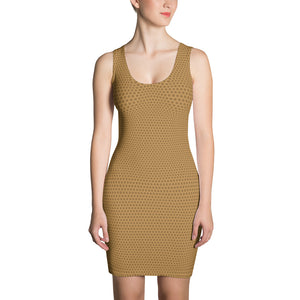 Honeycomb Microfiber Dress