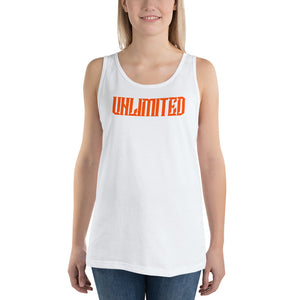 UNLIMITED Unisex Jersey Tank with Tear Away Label - Valentino Unlimited